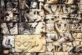 Khmer stone carving Royalty Free Stock Photography