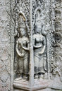 Khmer stone carvings angkor wat cambodia Royalty Free Stock Photography