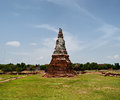 Khmer tower temple in thailand Royalty Free Stock Photos
