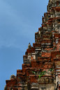 Khmer towerb and crows structure of temple tower in thailand Royalty Free Stock Images