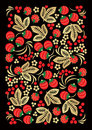 Khokhloma style Russian handicraft ornament Royalty Free Stock Images