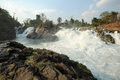 Khon Phapheng waterfall on river Mekong at four thousand island Royalty Free Stock Photo