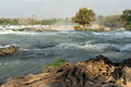 Khon Phapheng waterfall on river Mekong at four thousand island Stock Photography