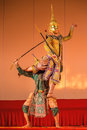 Khon, Traditional Thai dance drama Royalty Free Stock Photo