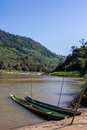 Khong river with bluesky weingkan in chiangrai thailand Stock Photography