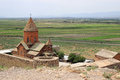 The Khor Virap monastery Royalty Free Stock Photo