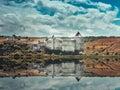 Khotyn castle on Dniester riverside Royalty Free Stock Photo