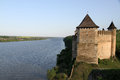 Khotyn fortress ukraine the is a fortification complex located on the right bank of the dniester river in western Royalty Free Stock Images