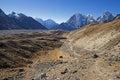 Khumbu Glacier Valley Royalty Free Stock Photo