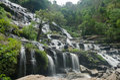 Khun mae ya waterfall the huge at chiangmai thailand Stock Photo