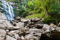 Khunphong Waterfall in deep jungle Stock Photo