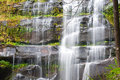 Khunphong Waterfall in deep jungle Stock Image