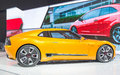 Kia gt stinger in the cias canadian international autoshow for short is canada s largest auto show and most prestigious consumer Royalty Free Stock Photos