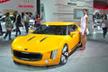 Kia gt stinger concept moscow september at the moscow international automobile salon on september in moscow russia Royalty Free Stock Image
