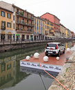 Kia soul exhibition fuorisalone at navigli design district in milano italy during dedicated to and made in italy during salone Stock Photography