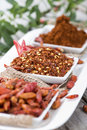 Kibbled chilli fruits portions of Royalty Free Stock Image