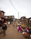 Kibera kenya december unidentified people go about their business in nairobi s largest slum Royalty Free Stock Photos