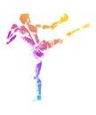Kick Boxer Royalty Free Stock Photo