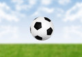 Kick off soccer concept Royalty Free Stock Photo