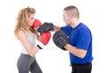 Kickboxing Girl Royalty Free Stock Photo