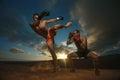 Kickboxing Royalty Free Stock Photo