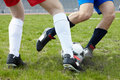 Kicking ball Royalty Free Stock Photography