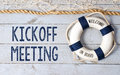 Kickoff Meeting - Welcome on Board Royalty Free Stock Photo