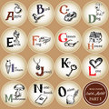 Kid alphabet hand drawing vector childrens english part letter a o Stock Photography