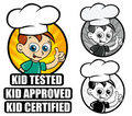 Kid Approved Icon version Chef Royalty Free Stock Photo