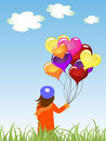Kid with balloons Royalty Free Stock Photo