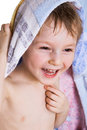 Kid in bath towel Royalty Free Stock Photography