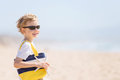 Kid at the beach Royalty Free Stock Photo