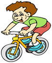 Kid on bike Royalty Free Stock Photo