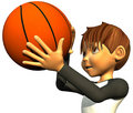 Kid boy basketball Royalty Free Stock Photo