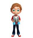 Kid boy with binocular Royalty Free Stock Photo