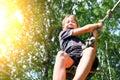 Kid Bungee jumping Royalty Free Stock Photo