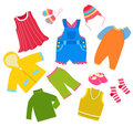 Kid clothes set Stock Photos