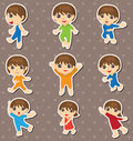 Kid dance stickers Royalty Free Stock Photography
