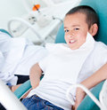 Kid at the dentist Royalty Free Stock Photo