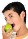 Kid eating an apple Royalty Free Stock Photo