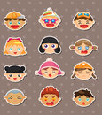 Kid face stickers Royalty Free Stock Photo