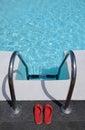 Kid gone swimming Royalty Free Stock Photo