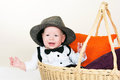 The kid in a hat Royalty Free Stock Photos
