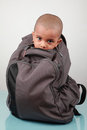 A kid inside a bag Royalty Free Stock Image