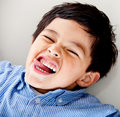 Kid making faces Royalty Free Stock Images