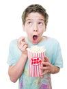 Kid at the movies Royalty Free Stock Photo