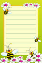 Kid notebook with blank lined page Royalty Free Stock Photo