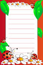 Kid notebook with blank lined page Stock Image