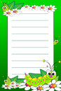 Kid notebook with blank lined page Stock Photography