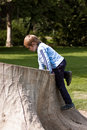 Kid in park Stock Image